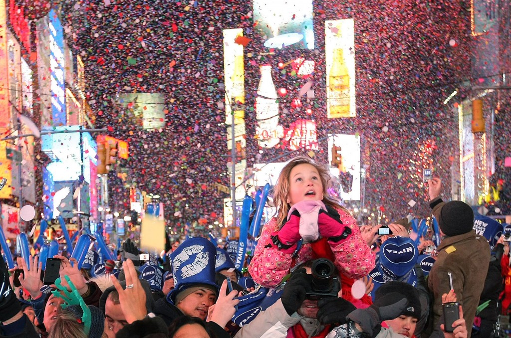 Revelers Celebrate The New Year In NYC's Times Square