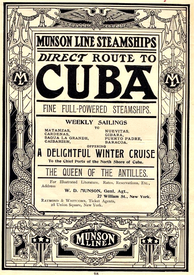 Boulevard de L'antique - Old Travel Ads - Cuba