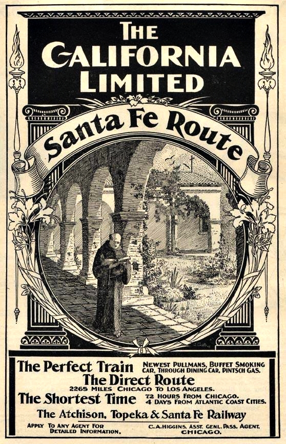 Boulevard de L'antique - Old Travel Ads - Santa Fe